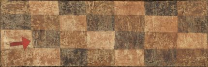 《立ち向かう矢》 1933年 水彩、石膏・カンヴァス 24.8×76.2cm