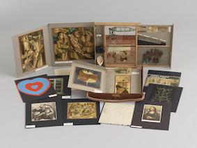 マルセル・デュシャン《「マルセル・デュシャンあるいはローズ・セラヴィの、または、による(トランクの箱)」シリーズB》1952年、1946 年(鉛筆素描)<br /> © Association Marcel Duchamp / ADAGP, Paris & JASPAR, Tokyo 2020 C3379