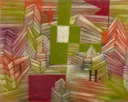《ストロべリーハウスの建築工事》 1921年 油彩・厚紙 39.3×49.5cm