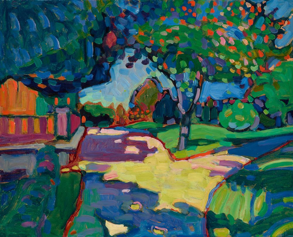 Wassily KANDINSKY《Three Linden Trees 》1908