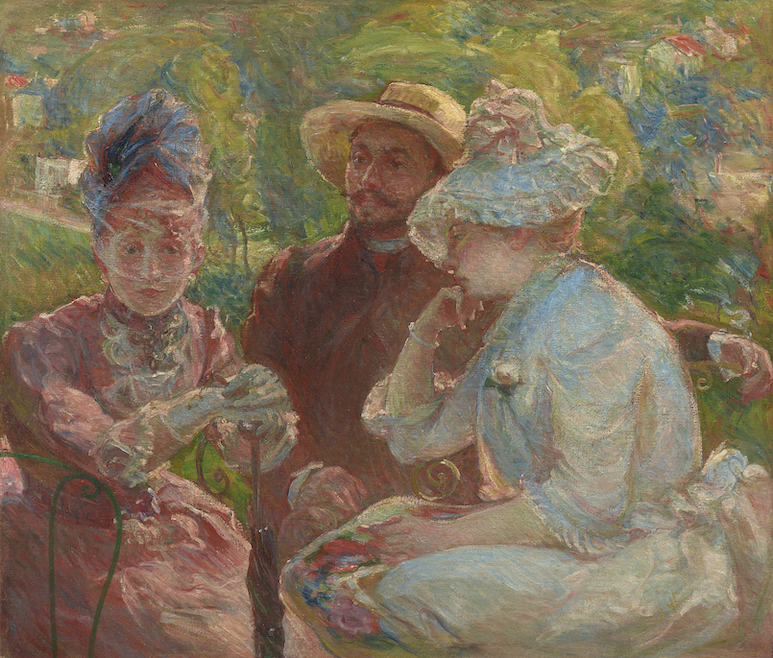 Mary BRACQUEMOND《On the Terrace at Sèvres》1880