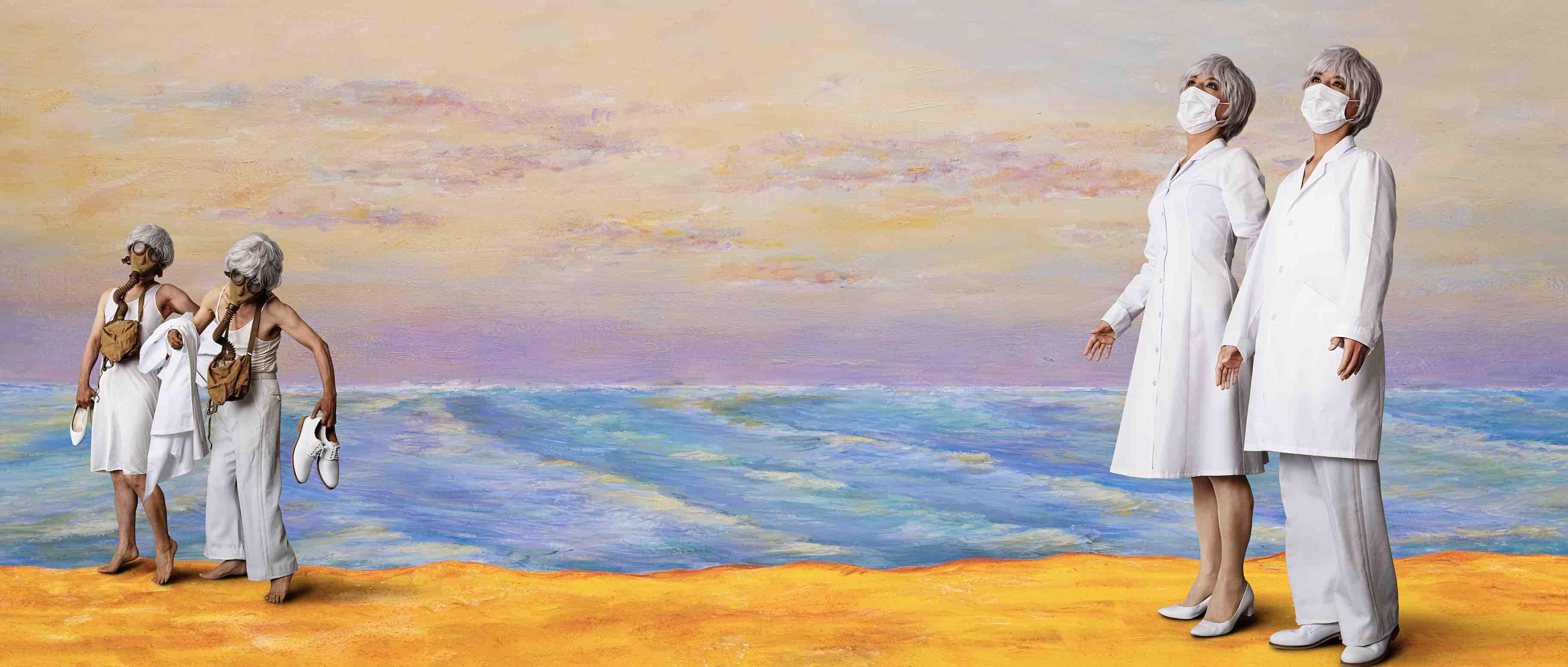 森村泰昌《M式「海の幸」第9番:たそがれに還る》2021年 作家蔵
