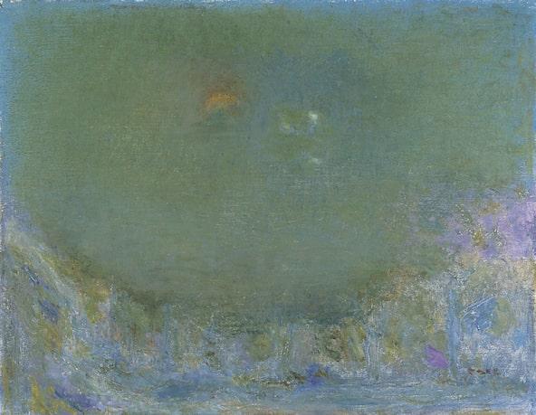 坂本繁二郎《幽光》1969年 油彩・カンヴァス