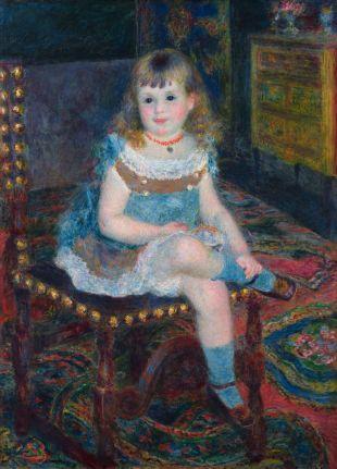 ピエール=オーギュスト・ルノワール《すわるジョルジェット・シャルパンティエ嬢》油彩・カンヴァス1876年
