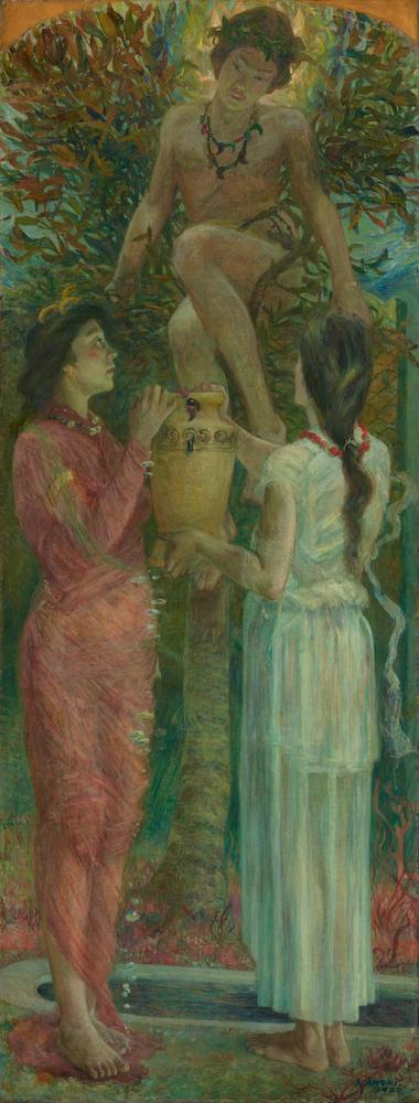 青木繁《わだつみのいろこの宮》1907年(重要文化財)石橋財団アーティゾン美術館蔵