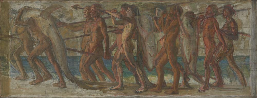 青木繁《海の幸》1904年(重要文化財)石橋財団アーティゾン美術館蔵