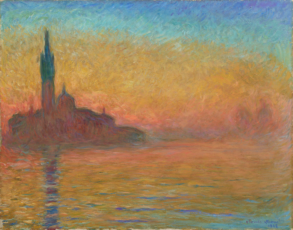 クロード・モネ《黄昏、ヴェネツィア》1908年頃