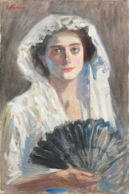藤島武二《黒扇》1908-09年 重要文化財