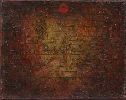 《庭の幻影》 1925年 油彩・厚紙(木枠に貼付) 24.0×30.0cm