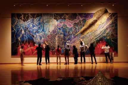 《Dream Hunting Grounds》<br /> 「ハンターギャザラー」展示風景 2018年 秋田県立近代美術館
