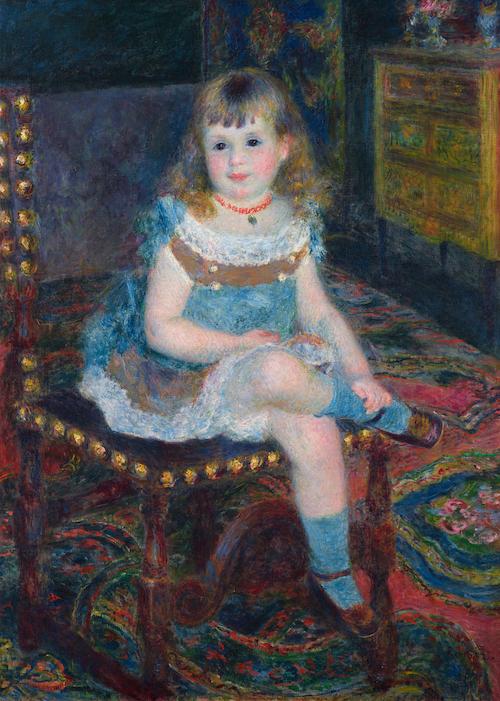 Pierre-Auguste RENOIR《Mlle Georgette Charpentier Seated》1876