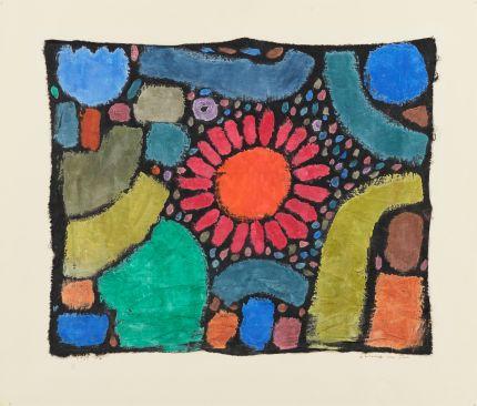 《谷間の花》 1938年 水彩・綿布(板に貼付) 42.5 ×51.0cm