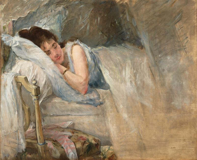 Eva GONZALÈS《Sleep》c. 1877-78
