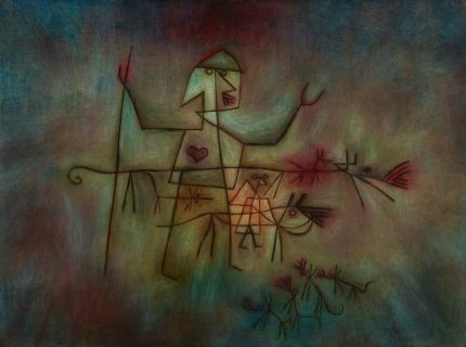 《The Shepherd》1929​ oil on canvas mounted on plywood​ 49.8×67.0 cm