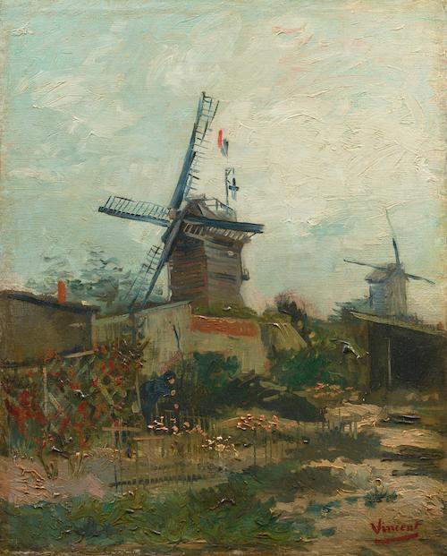 フィンセント・ファン・ゴッホ《モンマルトルの風車》1886年