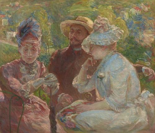 マリー・ブラックモン《セーヴルのテラスにて》1880年