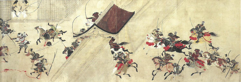 《平治物語絵巻 常磐巻》(部分)鎌倉時代13世紀 重要文化財