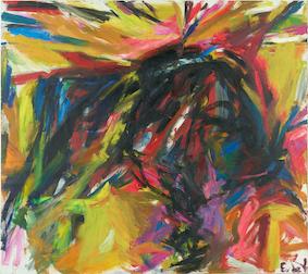 Elaine DE KOONING 《Untitled (Bullfight)》1959<br /> ©Elaine de Kooning Trust