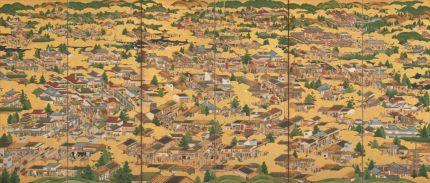 《洛中洛外図屏風》(部分)江戸時代