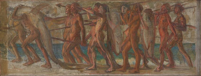 青木繁《海の幸》1904年 油彩・カンヴァス(重要文化財)
