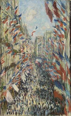 クロード・モネ《パリ、モントルグイユ街、1878 年6月30日の祝日》1878 年 油彩・カンヴァス オルセー美術館蔵<br /> Photo © Musée d'Orsay, Dist. RMN-Grand Palais / Patrice Schmidt / distributed by AMF