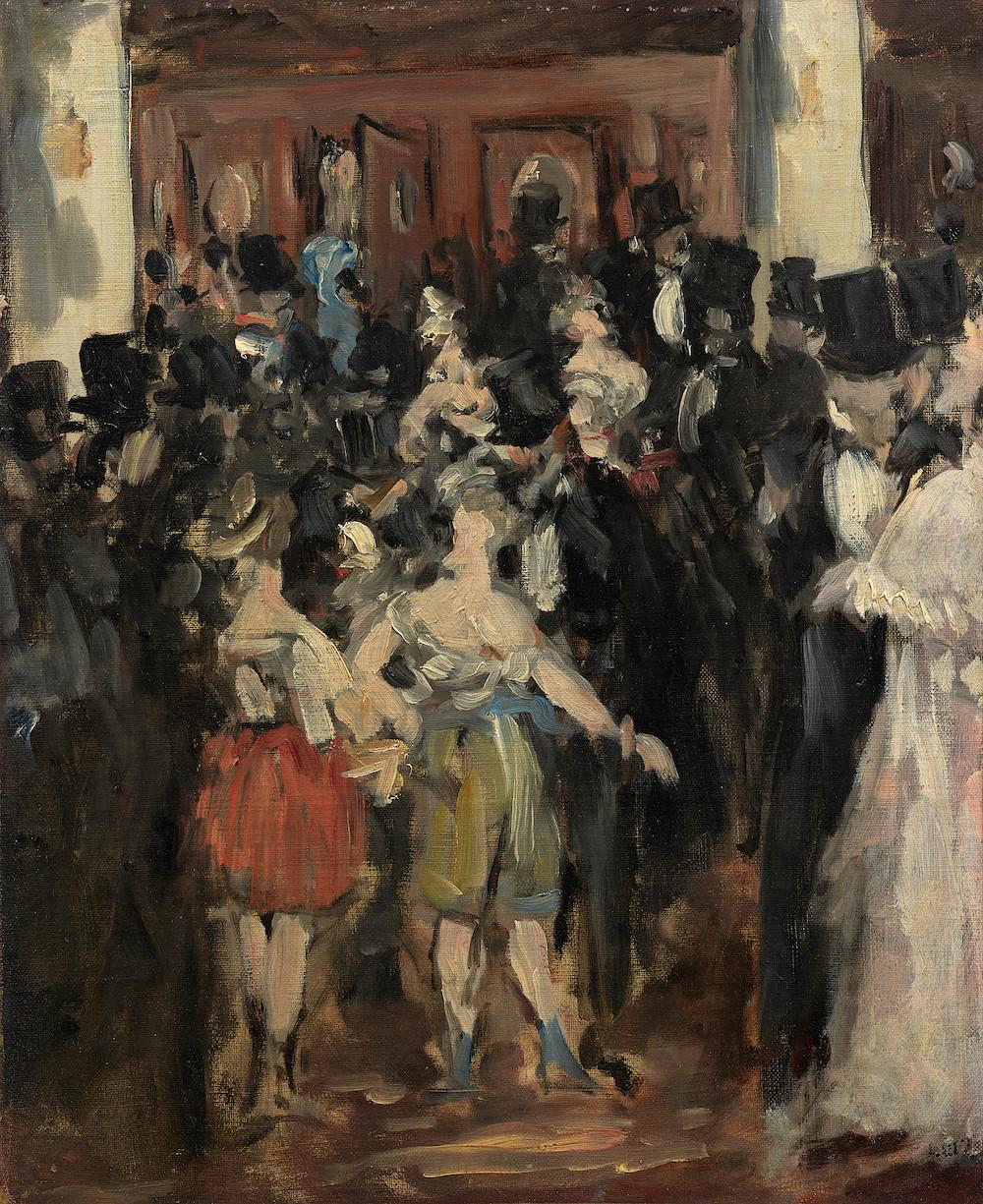 エドゥアール・マネ《オペラ座の仮装舞踏会》1873年