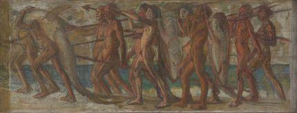 青木繁《海の幸》油彩・カンヴァス1904年
