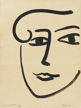 アンリ・マティス《ジャッキー》1947年