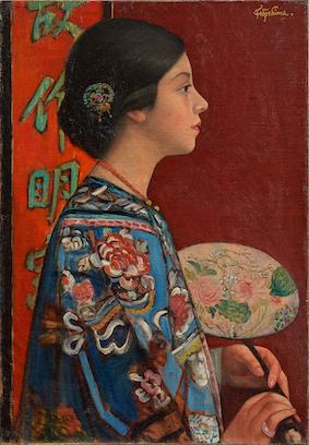 藤島武二《東洋振り》1924(大正13)年