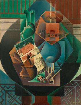 ジャン・メッツァンジェ《円卓の上の静物》1916年