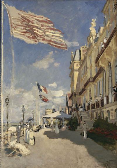クロード・モネ《トルーヴィルのロシュ・ノワール・ホテル》1870年 油彩・カンヴァス オルセー美術館蔵 <br /> Photo ©︎ RMN-Grand Palais (musée d'Orsay) / Hervé Lewandowski / distributed by AMF